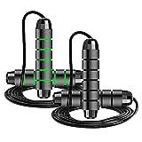 Lixada 2 Piezas de Cuerda de Saltar,Cuerda de Saltar Ajustable,Cuerda de Saltar de Alambre de Acero, 9,8 Pies/280 cm