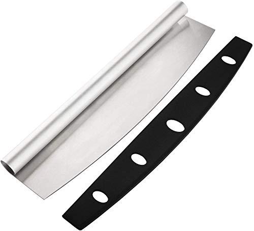 Bwelcam Cortador de pizza – Cuchillo de pizza de acero inoxidable 304,...
