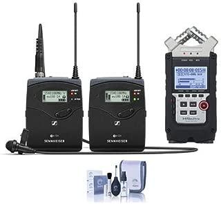 Sennheiser ew 112 P G4 Camera Lavalier Set, Bodypack Transmitter, ME 2 Lav Omni Mic, A: 516-558 MHz - Bundle with Zoom H4n Pro Recorder