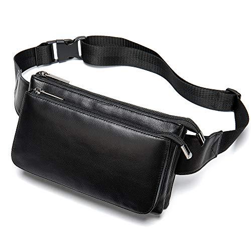 Timagebreze Leder HüFt Taschen GüRtel Tasche Handy Taschen Reise HüFt Tasche M?Nnliche Kleine HüFt Tasche Leder HüFt Tasche