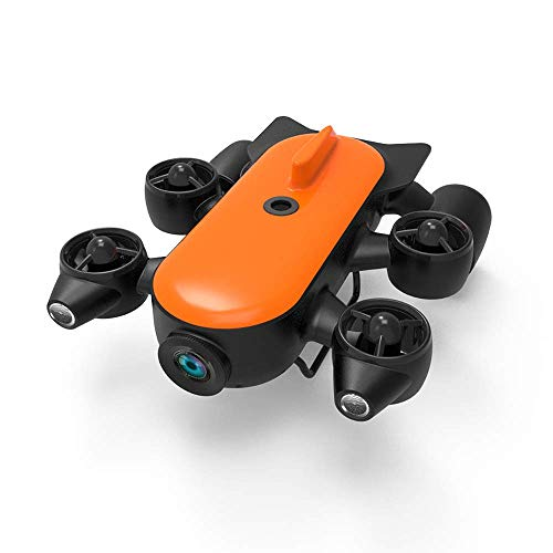 Drone subacqueo Videocamera subacquea - Drone subacqueo con telecomando Robot Rilevamento sottomarino Archeologia subacquea 150 m di profondità con videocamera lampeggiante 4K 32G sotto il drone acq