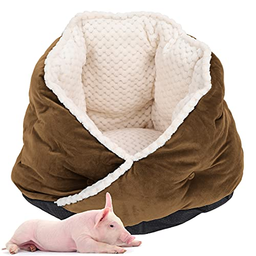 Voluxe Cama de descanso para mascotas, cama suave para mascotas Cama para mascotas para descansar (marrón)