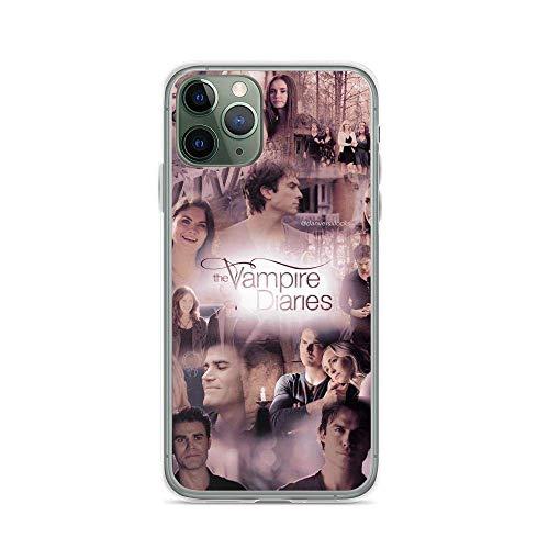 Kivbsho Compatibile con iPhone 11 12 PRO Max XR 6/7/8 SE 2020 Case Vampire Diaries Reunion Scenes Collage American Supernatural Teen Series Custodie per Telefono TPU Anti Scratches Protective Cover
