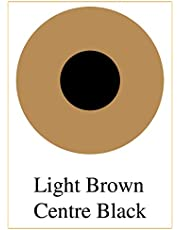 AffablE Star Contact Lens for Damage Eyes or Prosthetic Lens pack of 1 pcs,color - Light brown center black