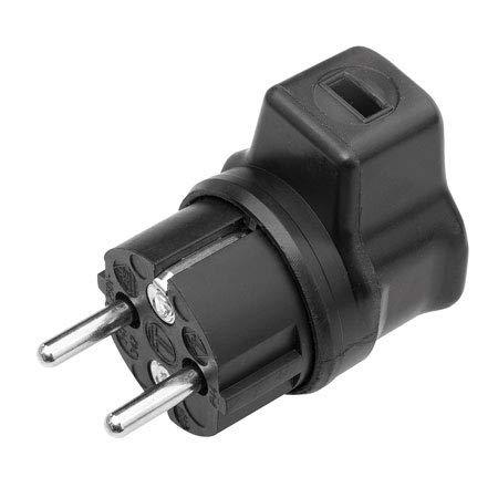 Kalthoff Winkelstecker schwarz auch für außen geeignet Stecker