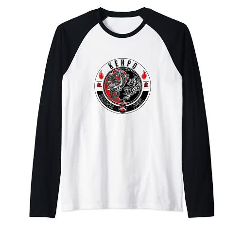 Dragón y Tigre Kenpo Karate Camiseta Manga Raglan
