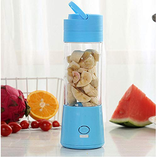 Personal Blender,Electric juicer Cup Mini Portable juicer-Blue_6 Leaves