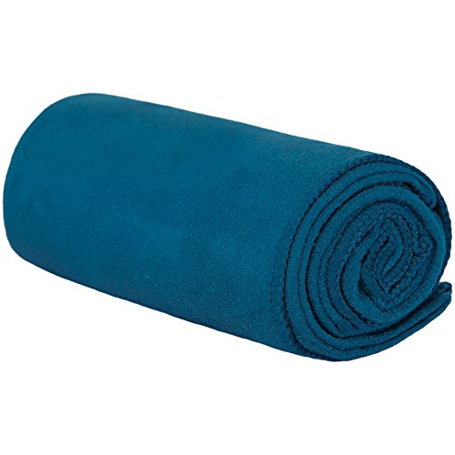 Shandali Gosweat Hot Yoga Towel, Color Evening Blue, Size 26.5 x 72