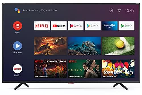 Sharp Aquos 65BN6E 65  Dolby ATMOS Android 9.0 Smart TV 4K Ultra HD, Wi-Fi, DVB-T2 S2, 3840 x 2160 Pixels, Nero, suono Harman Kardon, 3xHDMI 3xUSB, 2020 [Classe di efficienza energetica A]