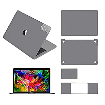 """ZhParts 5-in-1 Notebook Computer Full Body Protective Skin Decals Stickers for MacBook Air 13"""" with  A1932 A2179 A2337 2018 Release  Space Grey"""