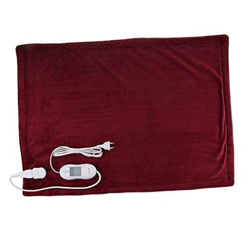 FLAMEER Premium Heizkissen, mit Abschaltautomatik, Waschbar, Sicherheitsabschaltung, ca. 80x60cm, EU-Stecker - rot, 80 cm