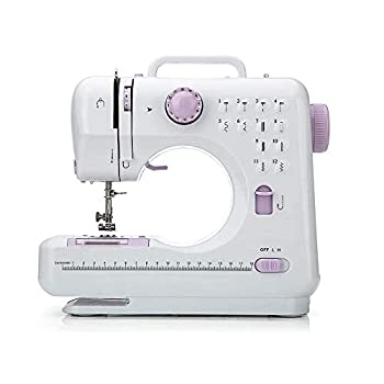 JE Make IT Simple Mini Portable Electric Sewing Machine 12 Built-in Stitches/2 Speeds Double Thread with Foot Pedal for Cloth Girls Adults Household Beginners