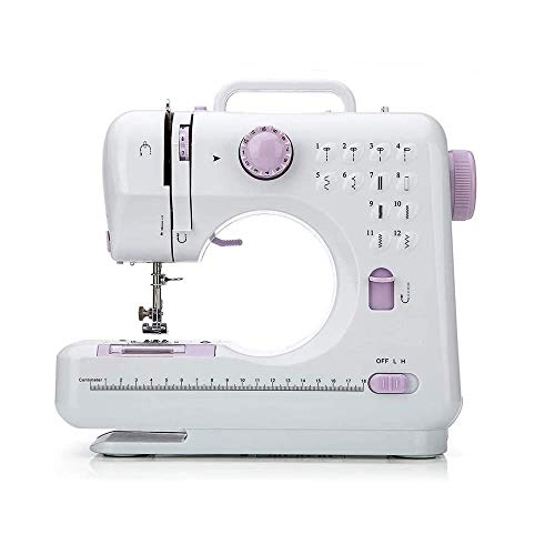 JE Make IT Simple Mini Portable Electric Sewing Machine, 12 Built-in Stitches/2 Speeds Double Thread with Foot Pedal for Household Beginners