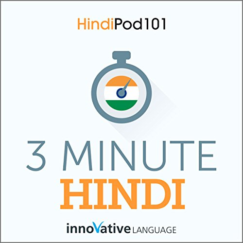 3-Minute Hindi - 25 Lesson Series Audiobook audiobook cover art
