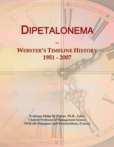 Dipetalonema: Webster's Timeline History, 1951 - 2007