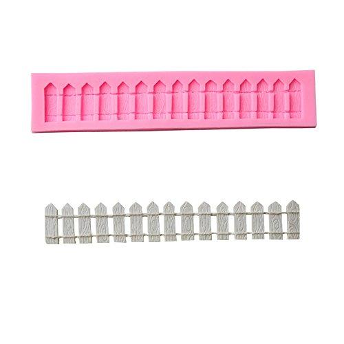 Moule en silicone pour décoration de gâteau fondant et à sucre, Silicone, Fence Pattern