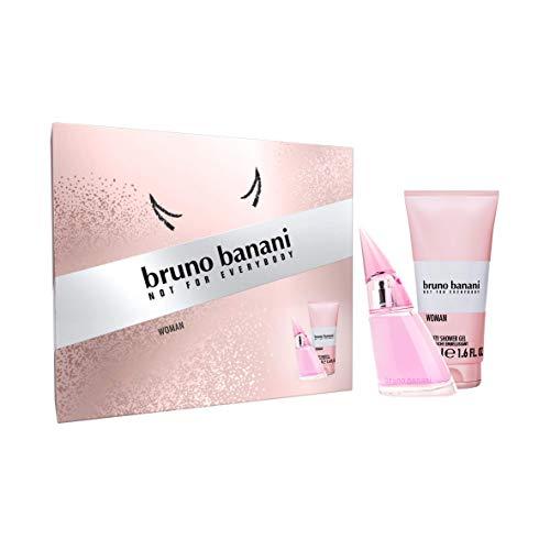Bruno Banani Fragrance Woman Premium Geschenkset – Erfrischendes Eau de Toilette und Duschgel mit spritzig-süßem Duft – Für die selbstbewusste Frau – 1 x 20 ml & 1 x 50 ml