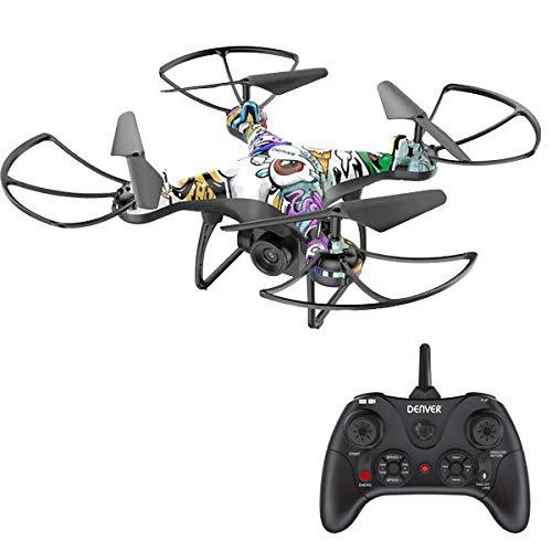 Dron Denver DCH-350 con batería Potente. Cámara HD. Función de retención de altitud. Tiempo de Vuelo por Carga: 22 Minutos
