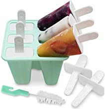 Popsicle Molds for Kids Silicone BPA Free with 2 Extra Reusable Sticks - Popsicle Molds Dishwasher Safe and Easy Release - No Mess LargePopsicle Makers Molds and Ice Cream Freezer Popsicle Molds