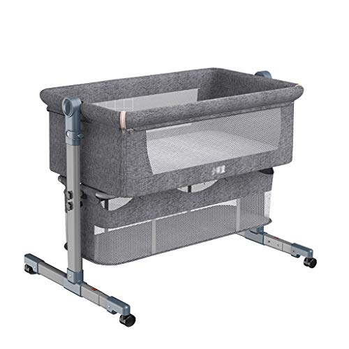 Cuna plegable para cuna de bebé, cama Queen Size portátil para niños, cuna (color gris, tamaño: sin bolsa de viaje)