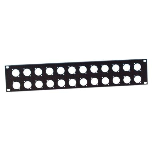 ah 19' Parts 872214 - Profilato rack, 2 U, in acciaio, con 24 vani per connettori XLR