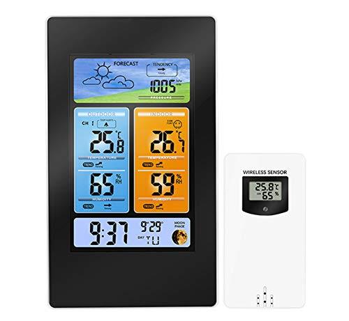 YYZLG Pronóstico meteorológico Multifuncional Pantalla electrónica a Color Temperatura y Humedad Reloj meteorológico Reloj meteorológico Reloj