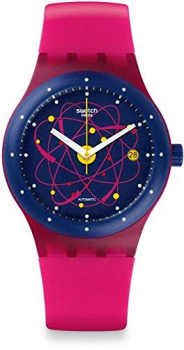 Swatch Unisex Analog Automatik Uhr mit Silikon Armband SUTR401