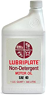 Lubriplate Lubricants Co L0808-054 - Engine Oil, SAE Grade: 40, Container Size: 1qt, Bottle, AGMA Number: 4, Pack of 15