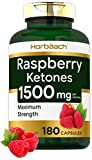 Raspberry Ketones | 1500mg | 180 Capsules | Non-GMO & Gluten Free Pills | by Horbaach...