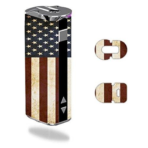 Decal Sticker Skin WRAP American Flag Grunge Vintage for Eleaf iStick 30W