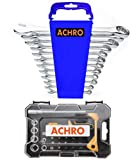 ACHRO Tool Kit Set Chrome Steel Professional Industrial Grade 12 Pieces Combination Spanner