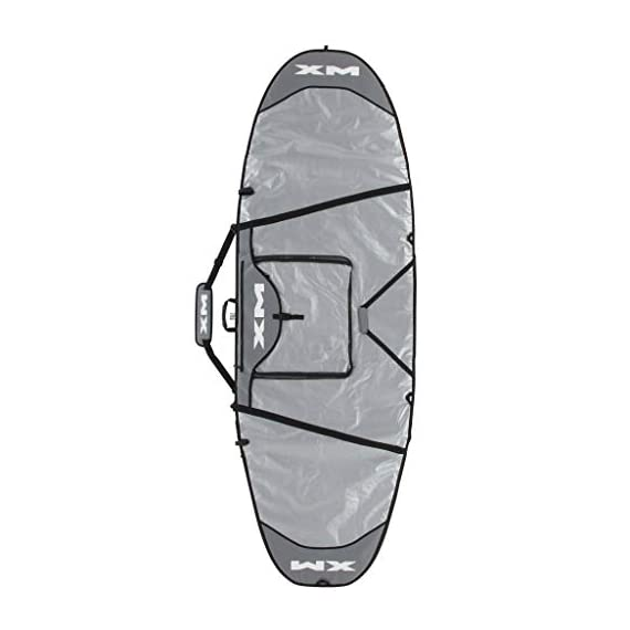 XM Stand UP Paddle (SUP) Board Day Bag / 10MM Ultra Durable Padding/Big Pocket 1 The XM SUP Day Bag has 10mm high density foam to protect the paddleboard from dings, a heavy duty padded shoulder strap, big pocket with changing pad, extra side handle for easier carrying, sewn-in zipper pulls, and custom reflective fabric to keep the board cool and protected! Heavy duty removable padded shoulder strap. Extra side handle.