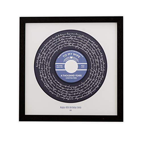 First Dance Print or Favourite Song Lyrics Personalised Poster - Vinyl Record Label Design -...