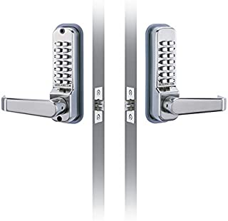 CODELOCKS CL410BB Codelock with Entry and Exit Lever, Passage, 2 3/4