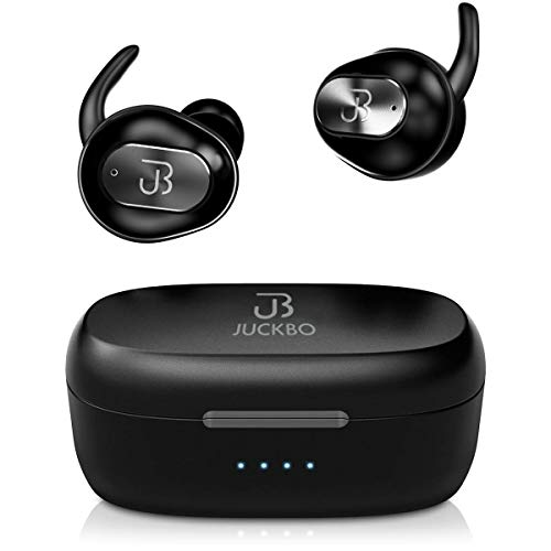 Wireless Earbuds,Bluetooth Headphones 5.0 Deep Bass HiFi Stereo Sound Earphones 16H Playtime with Charging Case and Built in Mic for Sports Running (Black)