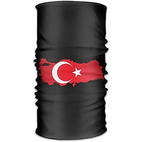 jingqi Magische Kopfbedeckung Türkei Flagge Karte Bandana Tube Schal StirnbänderMagic Headwear Turkey Flag Map Bandana Tube Scarf Headbands 50X25CM