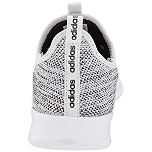 adidas Women's Cloud foam Pure Running Shoe, White/White/Black, 7 Medium US