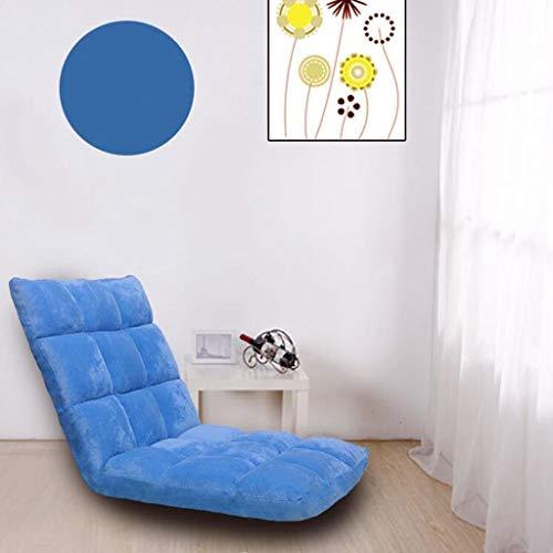 RUNWEI Alfombra, Cojín De Meditación, Sillón Puff, Sofá Cama Perezoso, Sofá Individual sofá Perezoso (Color : Blue, Size : L)