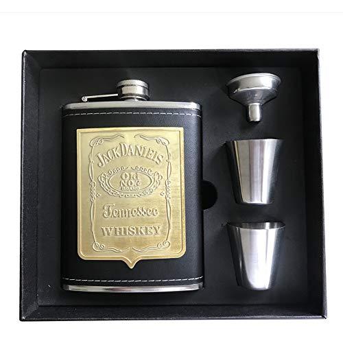 ReLX Fiaschetta Acciaio, Fiaschetta in Acciaio Inox Fiaschetta per Whisky, Escursione, Viaggio 8oz/227ml Argento