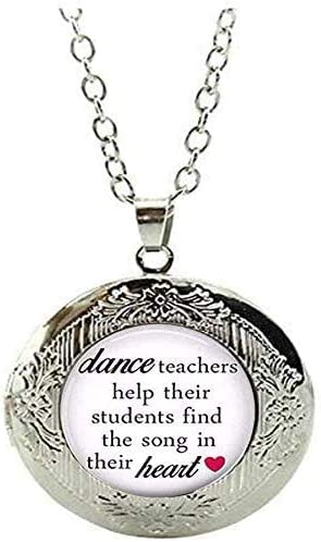 Dance Teacher Gift Dance Locket Necklace Ballet Teacher Gift Dance Recital Gift Art Picture Jewelry