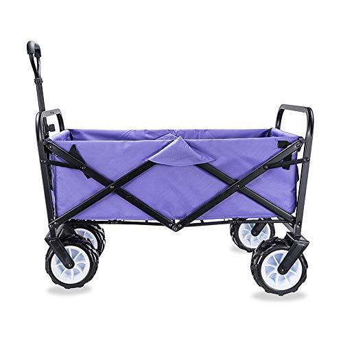 Desconocido GF Hand-Carro, Caravana Plegable portátil transportador de Cuatro Ruedas y ATV, 17cm de Ancho Carro Rueda Carro hogar (Color : D)