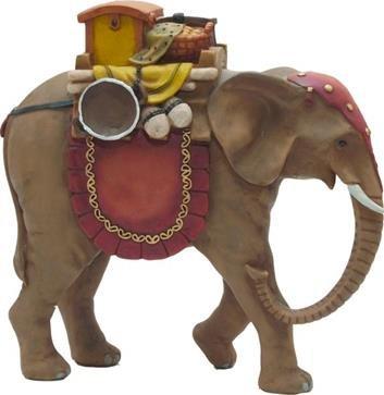 Krippenfiguren Elefant, geeignet für 7cm Figuren, handbemalen