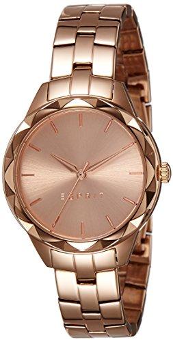 Esprit Damen Analog Quarz Uhr mit Edelstahl beschichtet Armband ES109252002