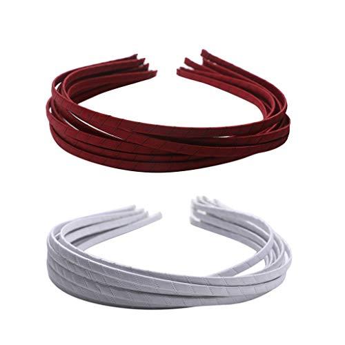 yotijar 20 bandas para el pelo de Alicia de color blanco con cinta de raso para niñas de 5 mm