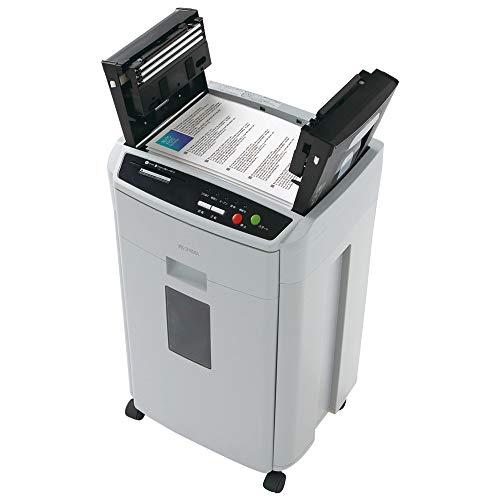 アイリスオーヤマ オートフィードシュレッダー 業務用 自動送り機能 自動細断150枚 ホチキス対応 クロスカット 静音 CD/DVD/カード対応 ダストボックス大容量39L AFS150HC-H グレー