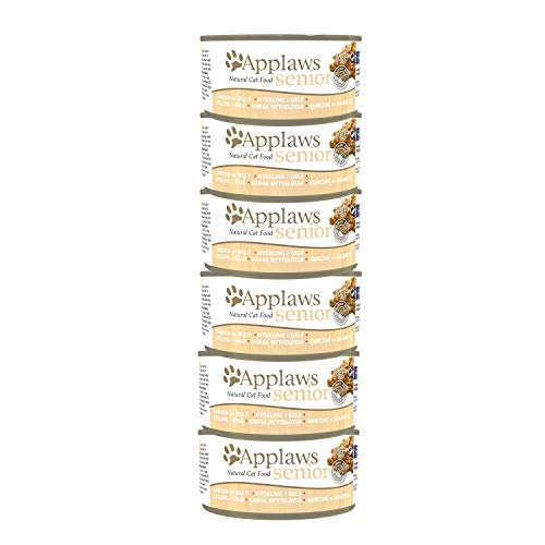 Applaws Natural Senior Cat Food, Chicken in Jelly 70g Tins Pack of 6