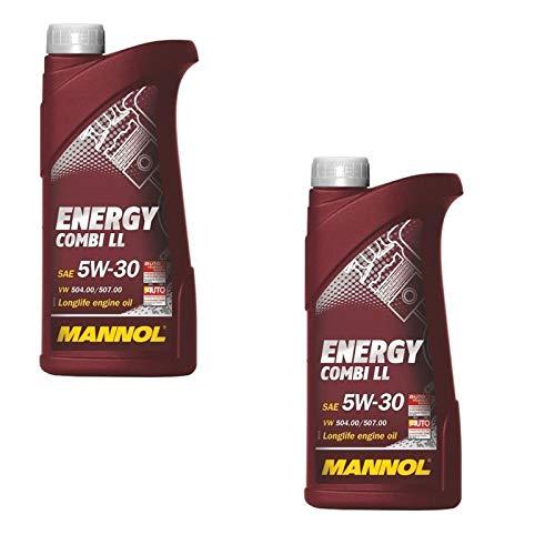 2 x 1 L MANNOL Energy huile de moteur 5W30 Combi LL