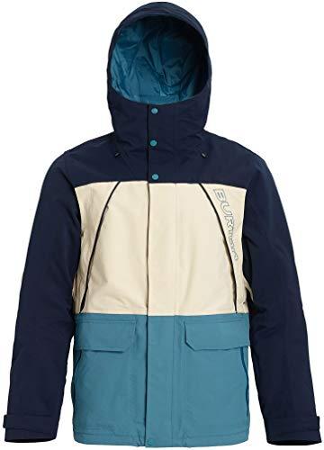 Burton Herren Men's Breach Jacket Snowboard-Jacken, Kleid Blau/Mandelmilch/Storm Blue, Medium