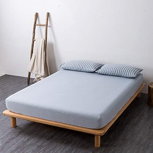 haiba sábana de una sola pieza funda protectora de colchón, cubierta de polvo antideslizante, azul claro, 120x200cm
