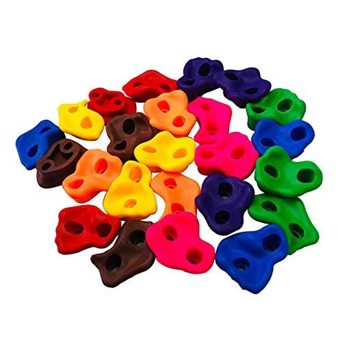 Juego de 10 piezas de varios colores para escalar, piedra de pared sin tornillos para marcos de escalada, casas de árboles y paredes de escalada para niños (tamaño: 10 piezas/paquete)